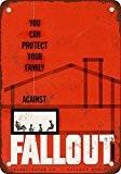 1954protéger votre Famille contre les nucléaire Fallout Look vintage Reproduction plaque en métal 20,3x 30,5cm