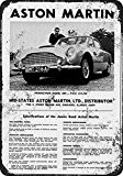 1966 James Bond Aston Martin Reproduction Vintage Plaque en métal 20,3 x 30,5 cm