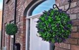 2 x 40 cm-Best (TM) de lavande artificielle à longues feuilles Fleur Boule de buis ****protégé contre la décoloration due ...