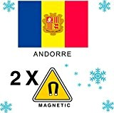 2 x Magnet Frigo AIMANT Magnétique pays ANDORRE