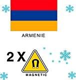 2 x Magnet Frigo AIMANT Magnétique pays ARMENIE
