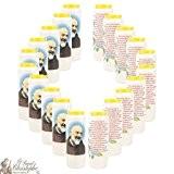 20 Bougies neuvaines à Padre Pio au parfum rose,prière en français