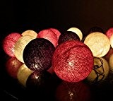 20/Set Classique Boule Coton Léger Blanc Violet Pour Noël Parti Décor à la Maison