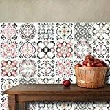 25 carrelage 20x20 cm - PS00010 PVC autocollants carreaux pour salle de bains et cuisine Stickers design - Décor baroque ...