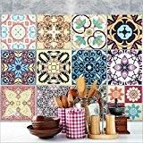 25 carrelage 20x20 cm - PS00059 PVC autocollants carreaux pour salle de bains et cuisine Stickers design - Marrakech