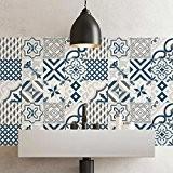 25 carrelage 20x20 cm - PS00083 PVC autocollants carreaux pour salle de bains et cuisine Stickers design - Leuca