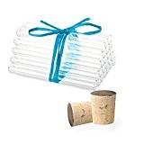 25 x Éprouvettes en verre de laboratoire avec des bouchons en liège naturel | Tubes à essai | Paroi épaisse ...