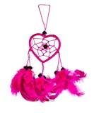 25cm x 6 cœur amour Dreamcatcher Capteur de rêves néon Rose Fuchsia Enfant Voiture decoration