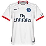2ème équipement Paris Saint Germain 2015/2016–Maillot officiel Nike pour enfant S Blanco / Azul Marino (Football White/Midnight Navy)