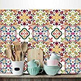36 carrelage 15x15 cm - PS00037 PVC autocollants carreaux pour salle de bains et cuisine Stickers design - June