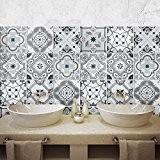 36 carrelage 15x15 cm - PS00095 PVC autocollants carreaux pour salle de bains et cuisine Stickers design - Damas