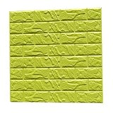 3D Brique Autocollant Etanche Mural Sticker Carrelage Auto-adhésif pour Décor Maison 60cmx60cm - Vert # 1