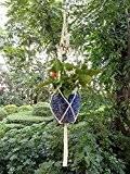 4 Jambes Macramé De Coton Tissé Supports De Suspension De La Plante Avec Perles De Bois Décoration Pour Pots De ...