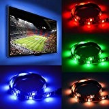 4X Ruban LED TV - Ruban LED Télé 15 Couleurs + Blanc Ruban LED Télévision USB Etanche - Kit de ...