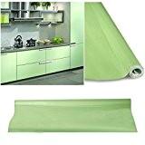 60 x 500 cm Stickers cuisine meuble Armoires étanche Papier peint PVC Autocollant de Cuisine Vert