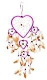 60cm x 16cm Dreamcatcher Capteur de rêves cœur amour Heart Rose Fuchsia bons rêves