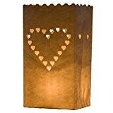 7 STYLES DISPONIBLES ICI - 10 x Sacs à bougie papier lanterne lampe luminaire blanc - Décoration pour fêtes, mariages, ...