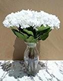 7 x Blanc Hortensias (60cm) - Fleurs Artificielles SANS VASE
