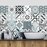81 carrelage 10x10 cm - PS00054 PVC autocollants carreaux pour salle de bains et cuisine Stickers design - Oslo