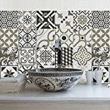 81 carrelage 10x10 cm - PS00081 PVC autocollants carreaux pour salle de bains et cuisine Stickers design - Rabat