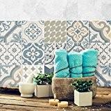 81 carrelage 10x10 cm - PS00086 PVC autocollants carreaux pour salle de bains et cuisine Stickers design - Agadir