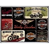 9 mini-magnets Harley Davidson