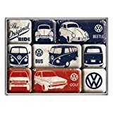 9 mini-magnets Volkswagen