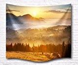 A.Monamour Champ De Terre Montagnes De La Nature Des Forêts Coucher De Soleil Photo Panoramique Numérique Imprimé Mur De Tapisserie ...