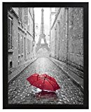 A3 (29x42cm) Cadre à photo en bois noir avec vitre protectrice – Conçu pour présenter des photos de 29x42cm – ...