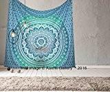 Aakriti Gallery Tenture hippie bohème Motif Mandala indien psychédélique Vert 234x 208cm