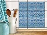 Adhésif Carrelage mosaique pour Faience salle de bain et cuisine | Sticker Autocollant pour rénover crédence | Revêtement mural | ...