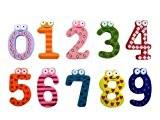 Aimant de Réfrigérateur en Bois Frigo Magnet Alphabet Cartoon Enfant