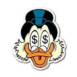 Aimant de réfrigérateur Oncle Picsou - aimant de frigo Disney - magnet Uncle Scrooge - en forme - Design original ...