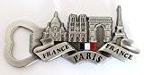 aimant magnet de frigo souvenir de France Paris métal cadeaux décapsuleur G83 (argenté )