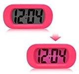 Alarm Horloge LED Réveil Lumineux Silencieux Electrique Grand Ecran Antichoc Sans Toxique en Silicone+ABS Grand Caractère 48.2*30.2*38.5CM pour Chambre Salon ...