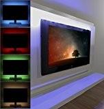 Albrillo 2x50cm Bandes LED pour rétro-éclairage TV, éclairage multicolore changeante avec Télécommande IR - Installation facile avec Adhésif - Alimenté ...