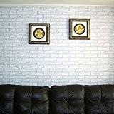 Aliciashouse 10m Blanc Gris Brique Pierre préencollé Adhésif contact Papier peint Rouleau Wall Art Décor