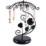 Alliage Porte-bijoux en Parapluie Organisateur Affichage de Baugue Collier etc - Noir
