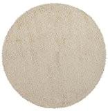 Alterego - Tapis design 'CAVA' rond 200 cm à poils longs crème