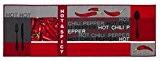 Andiamo 282648Tapis de cuisine Hot Pepper, 100% polyamide, rouge, 120x 67x 0,5cm