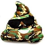 Angelof Amusante Emoji Peluche Molle Forme De Coeur Yeux Poo Coussin Oreiller Jouet Cadeau 20CM (Camouflage)