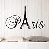 Anglais lettres Paris Tour Eiffel Sticker mural Sticker Home PVC murales en vinyle Papier peint papier Décoration Maison Salon Chambre ...