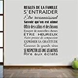 aooyaoo Noir citation de famille stickers muraux d¨¦coration de la maison55cm x80cm