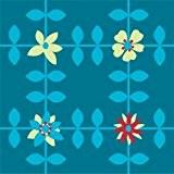 Around The Wall DALMABL011R Blue Mary Pack de 11 Dalles de Sol Motif 1M² PVC/Plastique Bleu/Blanc 30,5 x 30,5 x ...