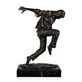 Arte dal Mondo EPA233 Danseur de Hip Hop Sculpture Moderne Bronze Patiné avec Base Marbre Marron 29 x 15 x ...