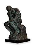 Arte dal Mondo LE018 Penseur Sculpture moderne Bronze Bronze 30 x 20 x 14,5 cm