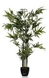 Artif-deco - Bambou artificiel 5 cannes vertes 180cm 1365 feuilles - choisissez la taille: 180 cm et 1365 feuilles