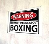 Attention, peut Talk About Funny De Boxe Sport Rétro en Métal Plaque de porte murale