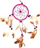 Attrape Rêve Capteur de Rêves 33 cm Dreamcatcher Dream Catcher Attrapeur rose Indien plumes cauchemar pink dream catcher
