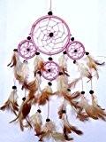 Attrape Rêve Capteur de Rêves Dreamcatcher Dream Catcher grand Attrapeur rose pink Indien plumes artisanal